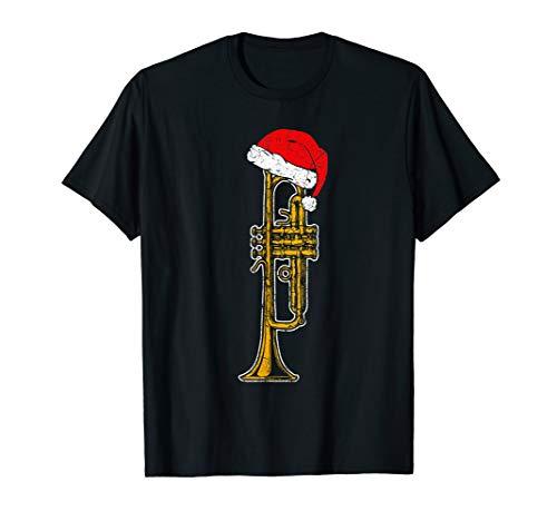 Weihnachten Musiker Trompete Weihnachtsmann Instrument T-Shirt