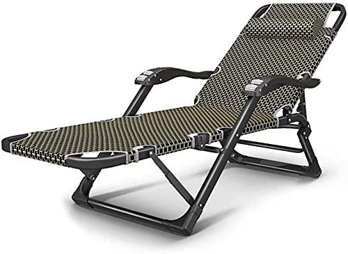Tumbona reclinable para exteriores, silla de jardín, plegable, extra ancha, tumbona, tumbona, tumbona, de jardín, ligera
