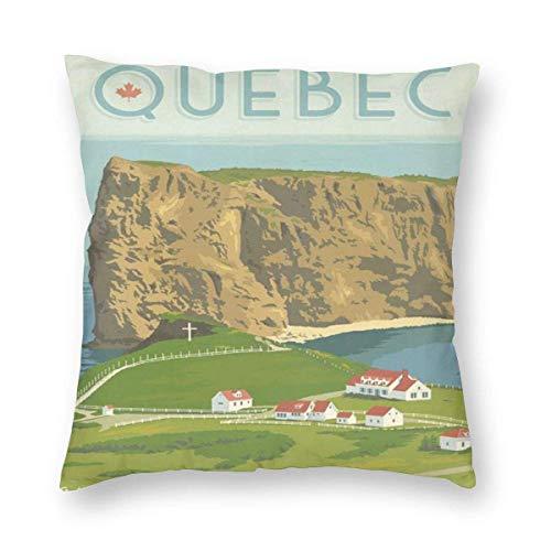 But why miss Funda de almohada cuadrada vintage de Canadá Quebec's Perce Gaspe Península con cremallera, 1 paquete, 45,7 x 45,7 cm