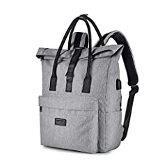 The large main compartment has a padded laptop pocket to fit laptop securely and clothes. The pouch at the front of the bag has built in RFID protection which prevents wireless identity theft, so you can keep your credit cards and sensitive documents...