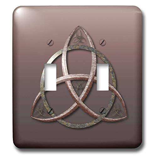 3dRose A stone textured triquetra Celtic trinity knot symbol. - Light Switch Covers (lsp_333408_2)