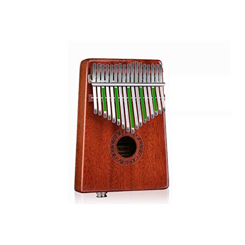 SFFSM Piano de Pulgar Kalimba de 17 Teclas, Hecho de Caoba Pura,...