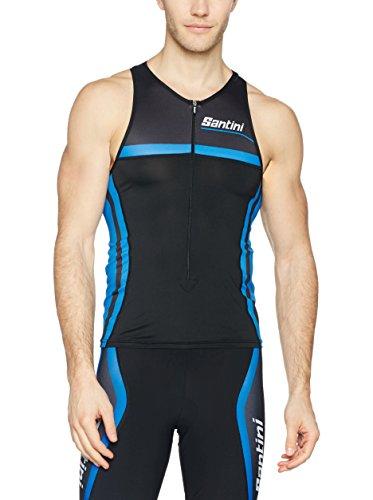 Santini Maillot Ciclismo Argo Negro/Azul 3XL