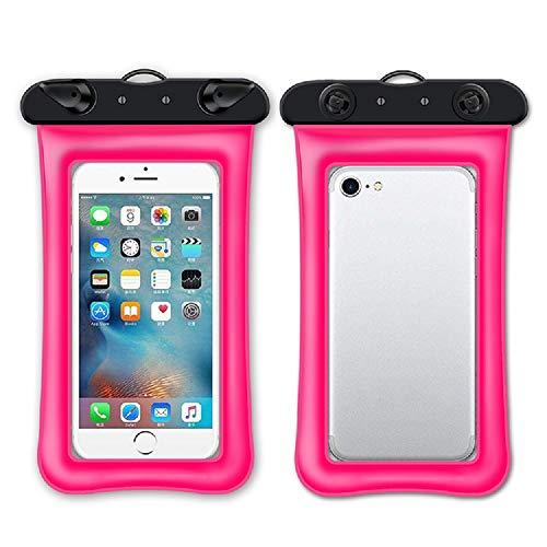 Funda impermeable IPX8 para teléfono móvil, bolsa impermeable con cordón para iPhone 11 XS MAX XR X 8 7 6 Plus, Samsung Galaxy S10 S9, Huawei P30 P20, etc. hasta 7 pulgadas para nadar y viajar (rosa)