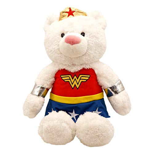 Wonder Woman Plush Teddy Bear (19 in ) DC Comics Superhero Stuffed Animal