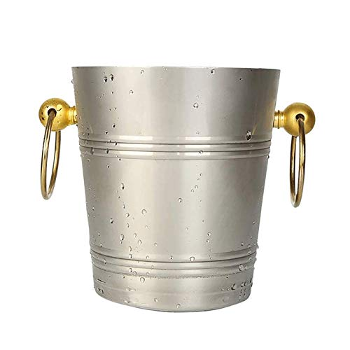 SHYPT Cubo de champán de Acero Inoxidable Cubo de Hielo Cerveza de Cerveza Barril de Hielo Barril (Size : 5L)