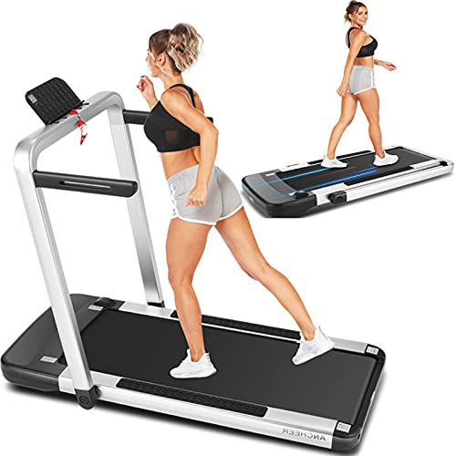 ANCHEER 2 in 1 Folding Treadmill for Home, Fitness Under...