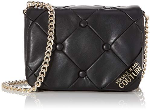 Versace Jeans Couture Damen Bag Umhängetasche, Schwarz (Nero), 9x15x21 centimeters