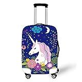 OSVINO Luggage Cover Cartoon Cute Unicorn Durable Elastic...