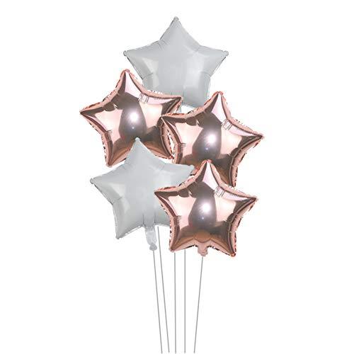 WZRQQ Ballon 5 stuks 18 inch goudfolie zilveren ster ballonnen bruiloft ballon decoratie baby shower kinderen kinderen verjaardag party ballonnen