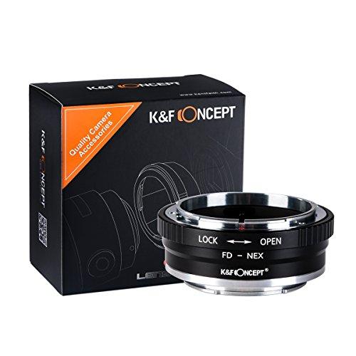 Anello Adattatore per Attacco Obiettivo K&F Concept FD-NEX per Obiettivo con Attacco Canon FD per Fotocamera Sony Alpha NEX E Anello Adattatore NEX-3