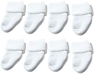 8 Pares Calcetines para Bebés Recién Nacido Respirable Antideslizante Calcetín 0-1 Años Calcetines Cómodo de Invierno Zapatos de bebé