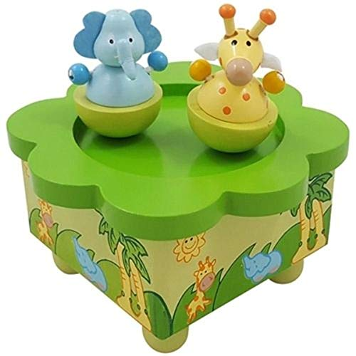Brink Holzspielzeug Spieluhr Elefant & Giraffe