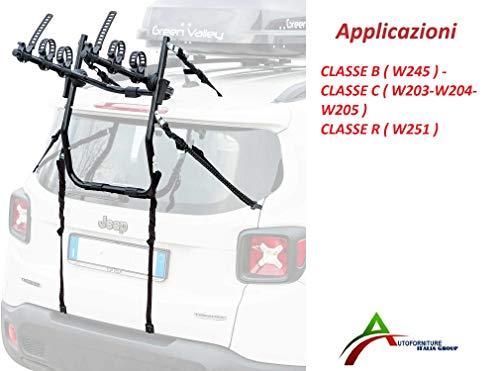 AUTOFORNITURE ITALIA Portabicicletas ensamblado y Listo para Usar (3 Bicicletas) para portón...