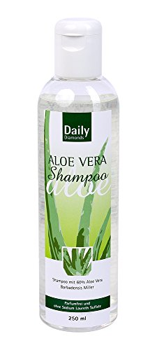 DAILY Diamonds Shampoing à l'aloe vera sans parfum ni laureth sulfate de sodium - 250 ml - Idéal aussi pour les cheveux fins car il ne contient pas de silicone - N'alourdit pas les cheveux