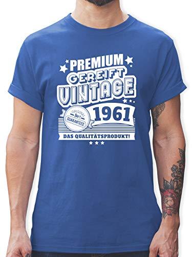 Geburtstagsgeschenk Geburtstag - Premium gereift Vintage 1961 60. Geburtstag - XL - Royalblau - 60 Tshirt Mann - L190 - Tshirt Herren und Männer T-Shirts