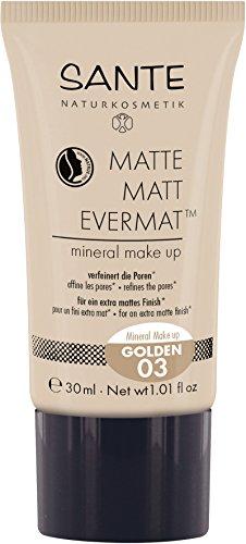 Sante Cosmetici naturali Matte Matt evermattm Mineral Make Up, effetto opaco, vegan (30ML)