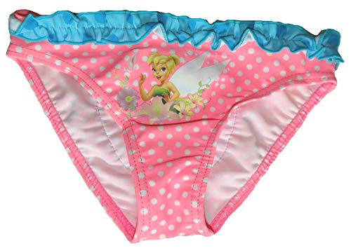 Sun City Mädchen Bikinihose mit Tinkerbell Motiv Disney Kinder Badehose Fairytale Slip (104, rosa)