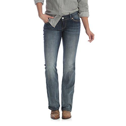 Wrangler Women's Retro Sadie Low Rise Stretch Boot Cut Jean, Medium Blue, 5X32
