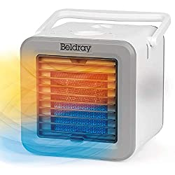 Perfect for warming or cooling your personal space, this compact Beldray Climate Cube is lightweight and portable for effortless use. Measuring just 23.9l x 21.6w x 21.3h cm, it also has a convenient carry handle for easy manoeuvrability around your ...