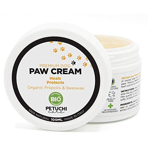 PETUCHI Bálsamo Bio para Almohadillas de Perros; Desinfecta, Cura y Protege Patas Agrietadas y Secas; 100% Natural; 100ml