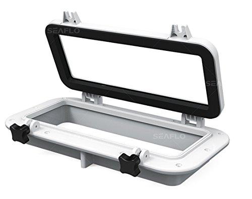 SEAFLO Rectangular Porthole Window w/ABS Plastic & Tinted Glass - 16' x 8' (White)