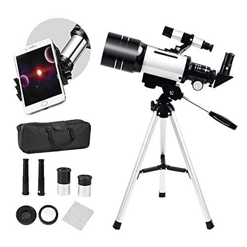 SEAAN Telescopio per bambini principianti 150X~15X, telescopio HD da 70 mm, cannocchiale di avviamento con treppiede, supporto per telefono, mirino cercatore, filtro lunare, zaino da viaggio