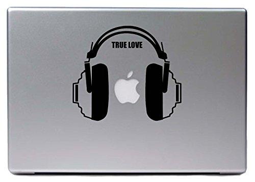 """Preisvergleich Produktbild Hellweg Druckerei Decal in deiner Wunschfarbe MacBook Air Pro 13"""" DJ Kopfhörer Musik True Love 15x13 cm Laptop Aufkleber Sticker Skin"""