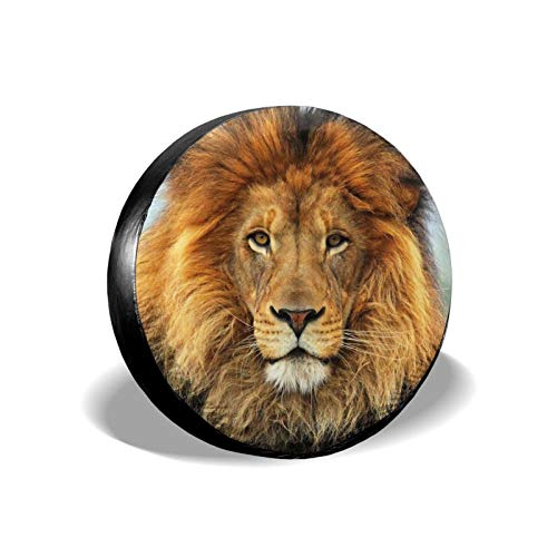 Filican Blue Eyed Lion Spare Tire Cover Universal Waterproof Wheel Covers for Trailer RV Car Truck