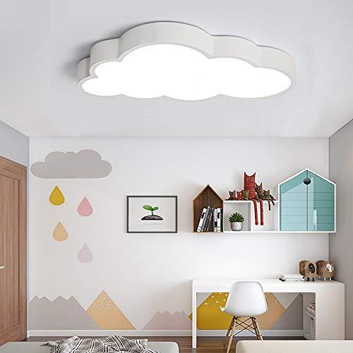LED Deckenlampe Kinderzimmerlampe Deckenleuchte Weiße Wolken Jungen Und Mädchen Dimmlüster Deckenspot Baby Lampe Licht Schlafzimmer Umgebung Für Cartoon Deckenbeleuchtung Lampeschirm,Whitelight