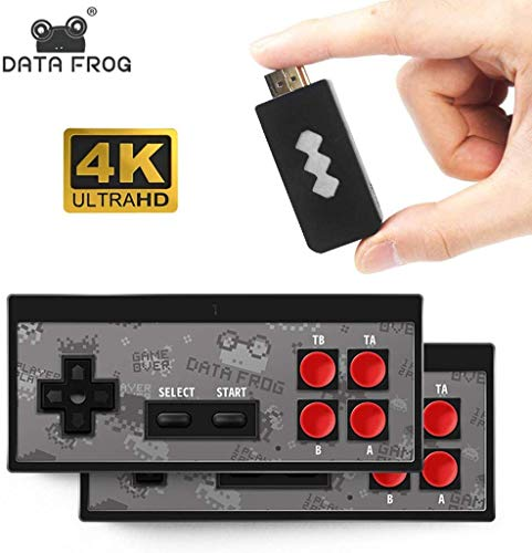 GUSENG Y2 4K H-DMI Video Game Console Built in 568 Mini Classic Games Retro Console Wireless Controller Output Dual Players