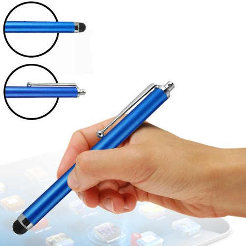 KlickaDeal® Eingabestift Stylus Pens für iPhone, iPad, iPod, Galaxy Tab, Galaxy S2, Galaxy S3, Galaxy S4, S4 mini, Blackberry Google Nexus, Odys nächstes Odys Noon, Galaxy Note, Acer Iconia, Odys Neo, Arnova, Odys Look, Intenso Tab, Ipad Mini, , HTC, Acer, Prestigio Multipad, Playbook, und viele weitere touch Screen Handys und Tablets (Blau)