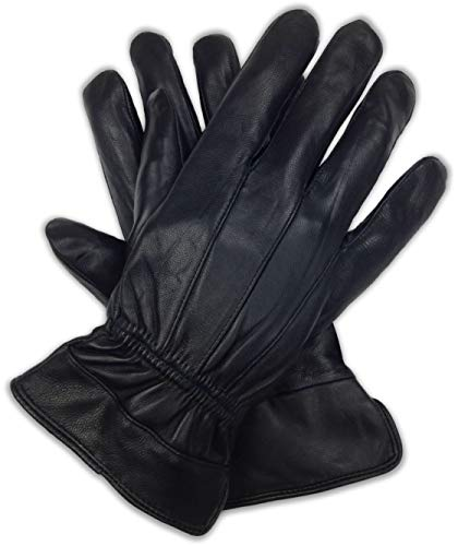 Bleu Nero Luxury Soft Men's Nappa Sheepskin Genuine Leather with 3M Thinsulate Gloves (Original, X-Large)
