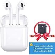 CHYU Bluetooth Kopfhörer Wireless Kopfhörer Drahtlose Ohrhörer Sport Kopfhörer 5.0 Mini Stereo In-Ohr TWS Ohrhörer Ohrhörer Mikrofon mit 1500mAh Ladebox für alle Smartphones