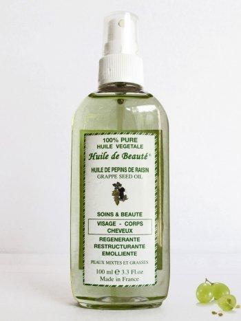 Huile de beauté visage-corps et cheveux Dollania à l'huile de pépins de raisin