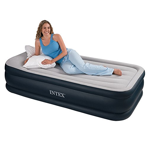 Intex Cama Hinchable Individual (Hinchador Electrico Integrado) 99x191x43cm