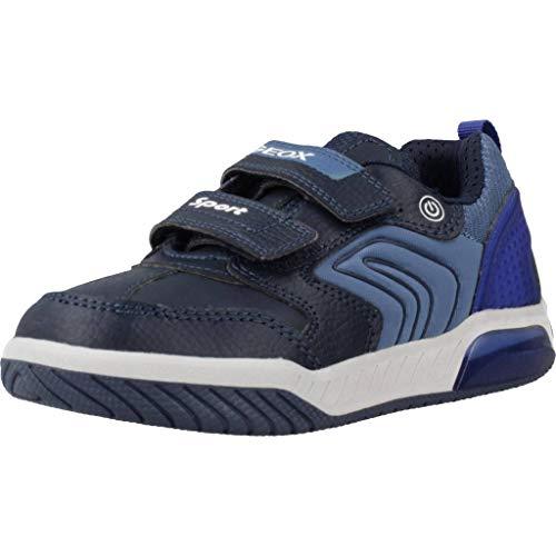 Geox Jungen J INEK Boy D Sneaker, Blau (Navy/Royal C4226), 24 EU