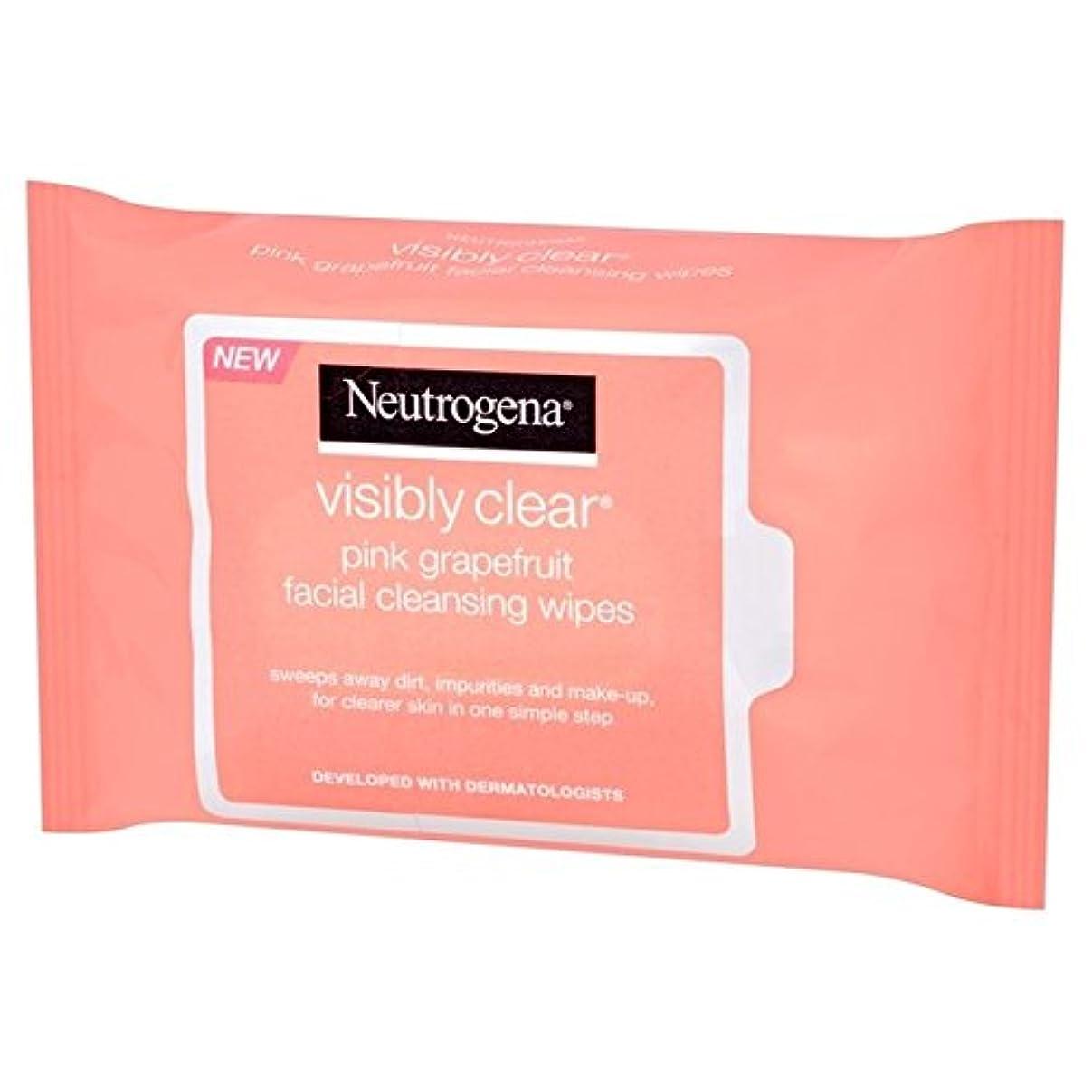 看板写真のベイビーニュートロジーナ目に見えて明らかピンクグレープフルーツは、パックごとに25ワイプ x4 - Neutrogena Visibly Clear Pink Grapefruit Wipes 25 per pack (Pack of 4) [並行輸入品]