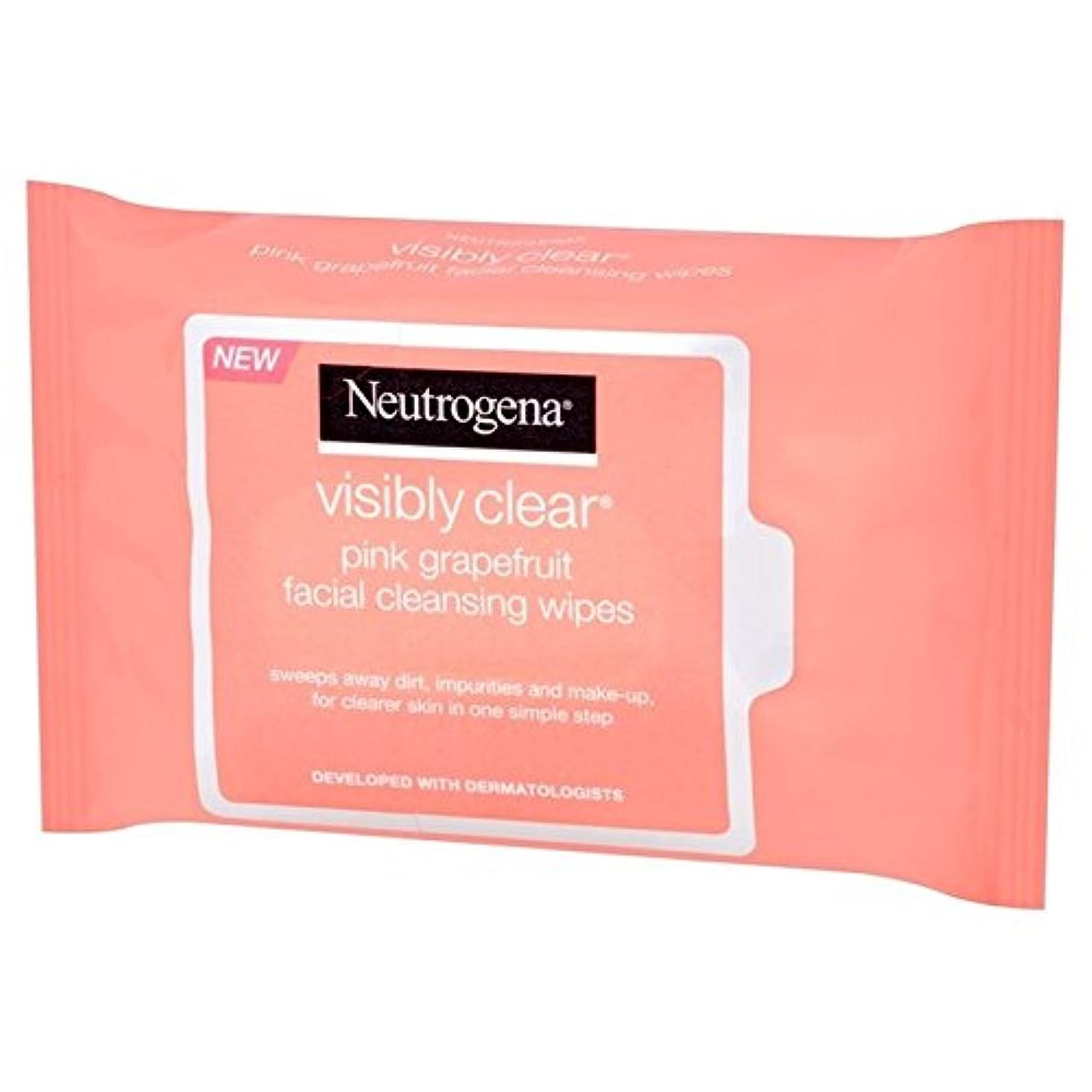 オリエンタル巧みな誓うNeutrogena Visibly Clear Pink Grapefruit Wipes 25 per pack (Pack of 6) - ニュートロジーナ目に見えて明らかピンクグレープフルーツは、パックごとに25ワイプ x6 [並行輸入品]