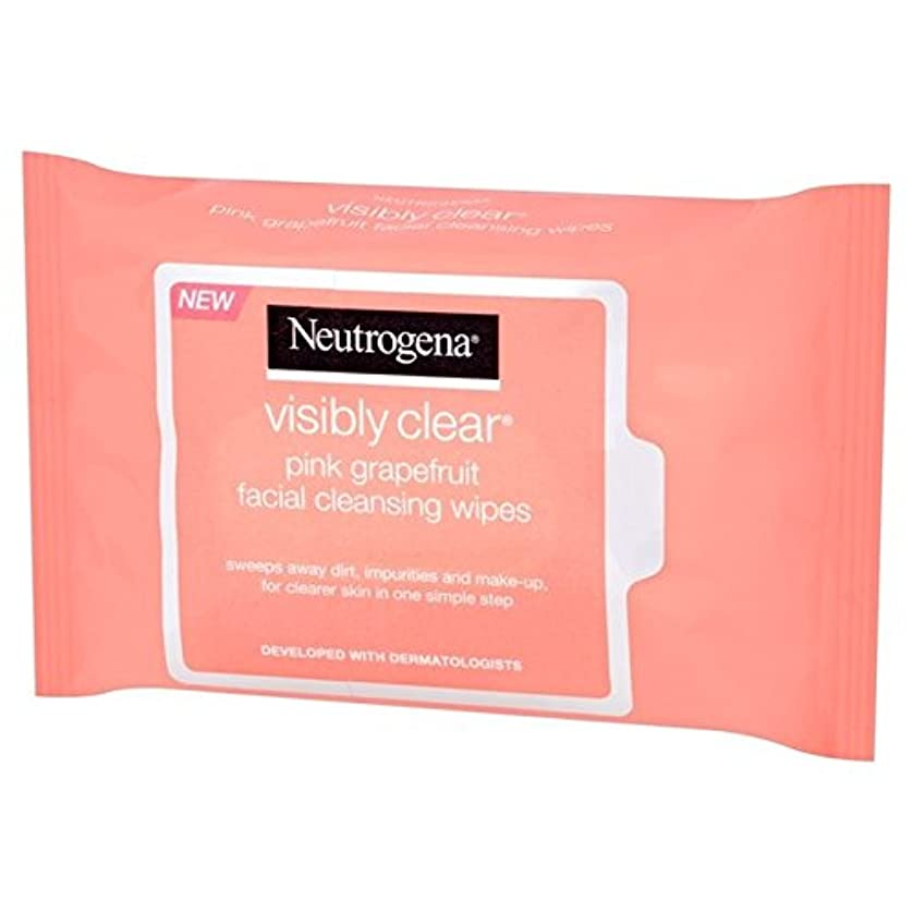 神秘前ラダニュートロジーナ目に見えて明らかピンクグレープフルーツは、パックごとに25ワイプ x4 - Neutrogena Visibly Clear Pink Grapefruit Wipes 25 per pack (Pack of 4) [並行輸入品]