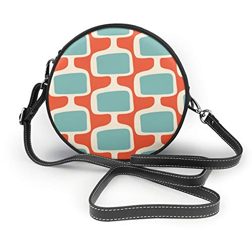 Mid-Century Modularer Tv Screens Mandarine Creme Rund Umhängetasche Fashion Circle Crossbody Geldbörse Clutch Handtasche