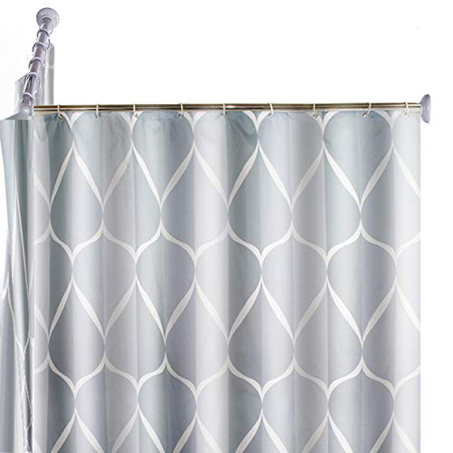 WoSaang L Shaped Shower Curtain Rod 31.5 × 31.5 Inch,Rustproof Wall Mount Stainless Steel Curved Shower Rod for Bathroom,Bathtub,Corner,Clothing Store,Private Space,Hardware Included (Silver)