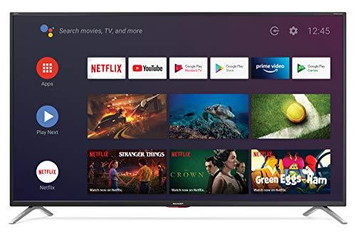SHARP 50BL6EA Android TV 126 cm (50 Zoll) 4K Ultra HD LED Fernseher (Smart TV, Harman Kardon, Google Assistant) [Modelljahr 2019]