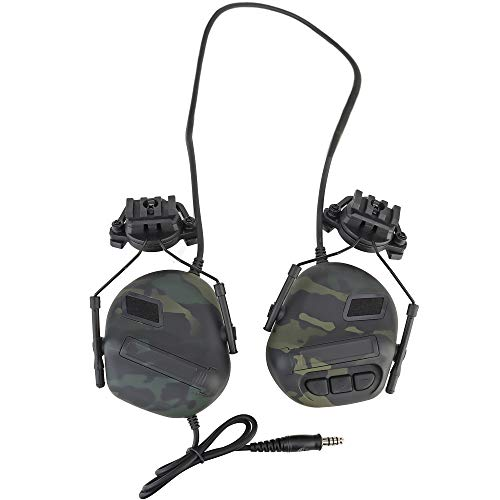 ATAIRSOFT Tactical Military Wasserdichter Helmkopfhörer Headset mit Tonaufnahme- und Geräuschreduzierungsfunktion
