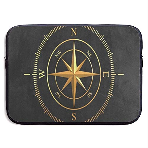 HGQHXY.U Golden Compass Black Laptop Sleeve wasserdichte Neopren-Tauchen-Gewebe-schützende Aktenkoffer-Laptop-Tasche für IPad, Notizbuch/Ultrabook