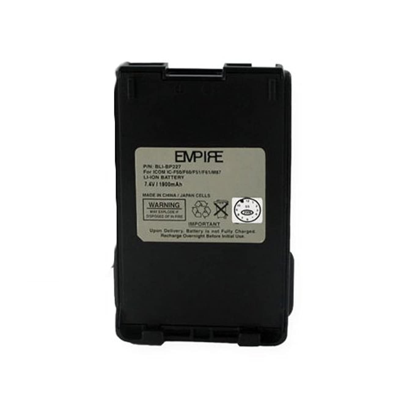 Icom IC-F88 2-Way Radio Battery (Li-Ion 7.2V 1900mAh) Rechargeable Battery - Replacement for Icom BP227 Battery