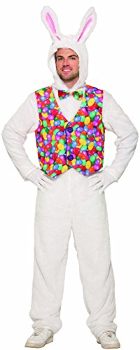 Forum Easter Bunny Jumpsuit with Vest, as Shown, Standard