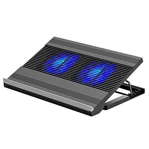 Portátil Ajustable portátil Refrigerador del Enfriador Dual Fan de enfriamiento portátil Refrigerador de la aleación de Aluminio Fregadero de Calor para Tableta portátil (Color : Black)