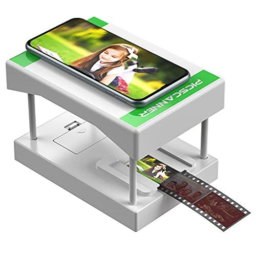 Rybozen White Mobile Film Scanner, Convierte Diapositivas y Negativos de 35 mm en Fotos Digitales con su cámara de Smartphone, Juguetes con retroiluminación LED (2 Pilas AA no Incluidas)…