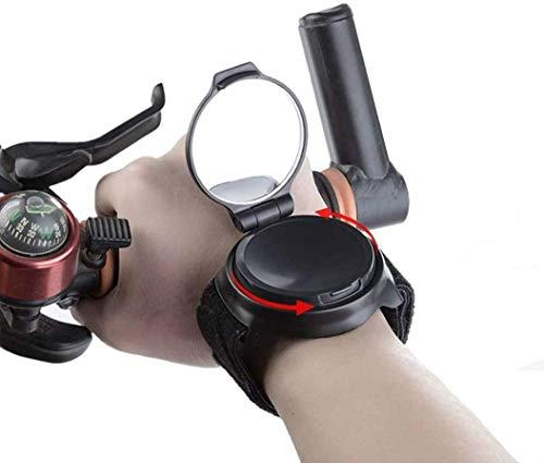 GESTAND Fahrrad Rückspiegel Fahrradspiegel Handgelenk 360° Drehspiegel Verstellbarer Armband Rückspiegel Spiegel für Pendler Kid Geschenk